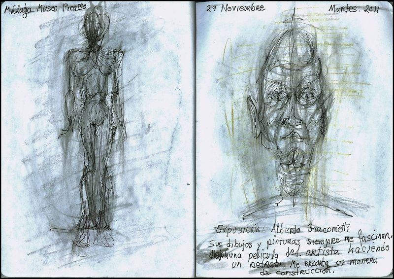 November29_2011_málaga. Museo Picasso. Exposición Giacometti.