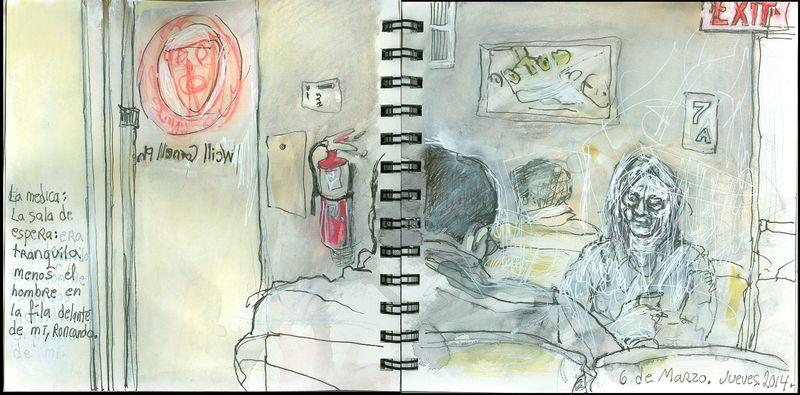 March6_2014_la medica_ la sala de espera_roncando