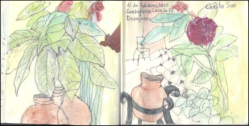 February11_2020_cartagena_casa la fe_ breakfast